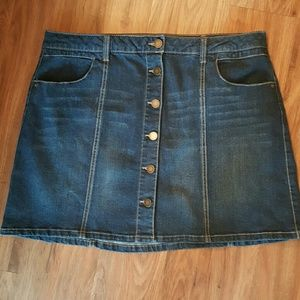 Jolt Dresses & Skirts - Never worn! Nordstrom button front denim skirt