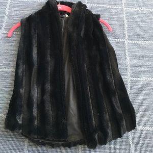 Pinc Premium Other - Black fur vest