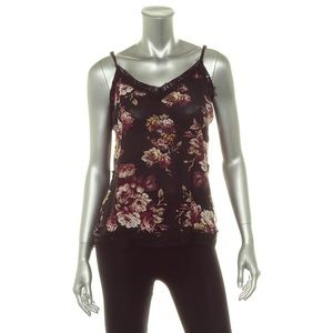 BAR III Blouse Floral Camisole Lace Detail