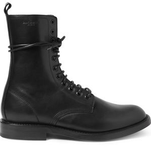 Saint Laurent Shoes - Saint Laurent Lace-up Combat Boot