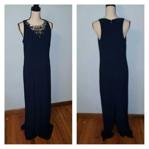 Vince Camuto Elegant Navy Maxi Dress