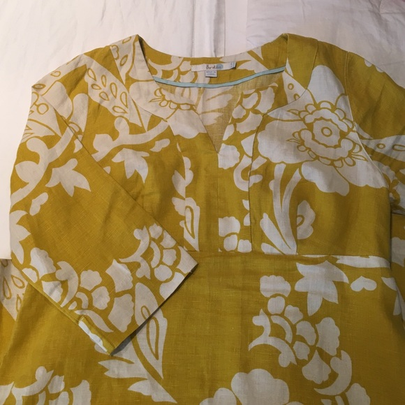 44 off boden tops boden yellow poppy print notch neck for Boden yellow