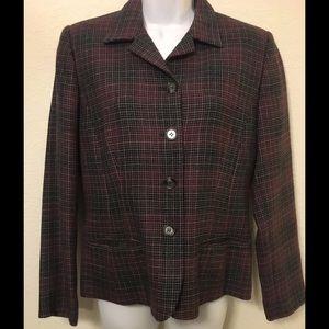 Harve Benard Jackets & Blazers - Pretty Plaid Blazer 100% Wool