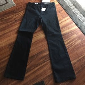 Gap black jeans skinny boot new size 26 S