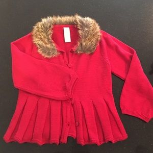 First Impressions Other - Baby girls Red fur jacket