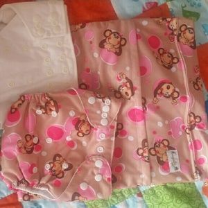 jungle Roo Other - NWOT - Cloth diaper and wet bag set