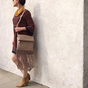 Francesca's Collections Handbags - 👄PRICE FIRM👄 NWT Crossbody Fringe Bag