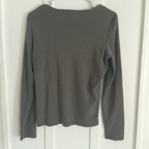 883b01143d47b0 Calvin Klein Tops | Olive Green Lace Up Top | Poshmark