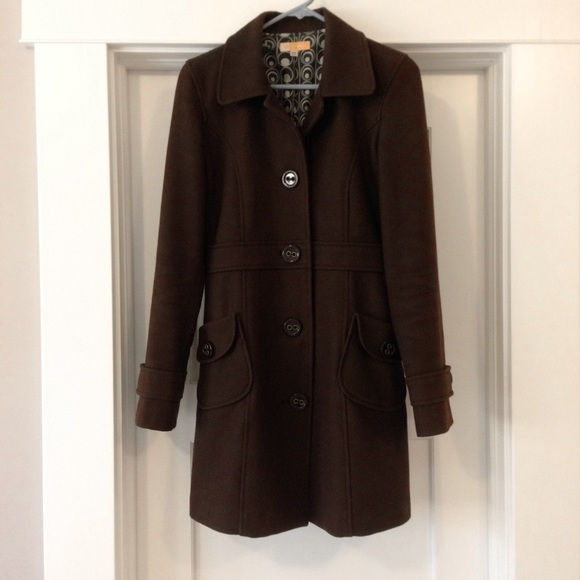 67% off Tulle Jackets &amp Blazers - Tulle Chocolate Brown Wool Coat