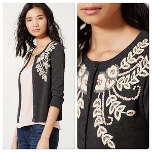 Anthropologie Fanned Vines Cardigan