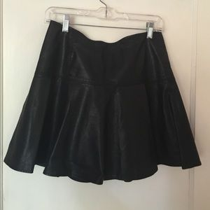 Free People Vegan leather skirt FINAL PRICE DROP