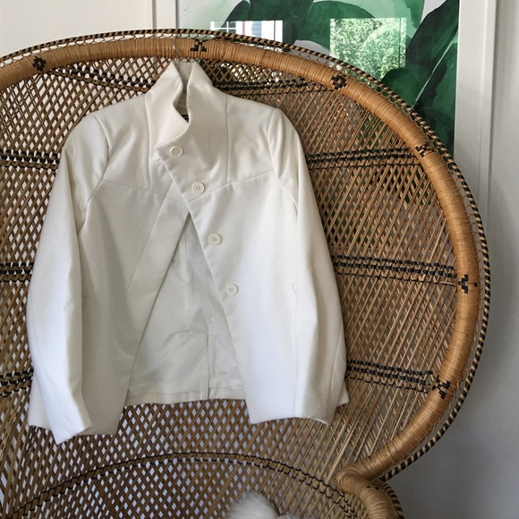 Old Navy Jackets & Coats - NWT Old Navy White High Neck Blazer