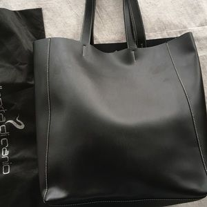 Alberta di canio Handbags - Large black leather tote
