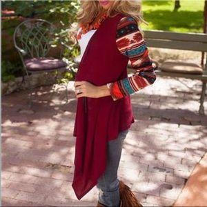Boutique Jackets & Blazers - Aztec Printed Loose Cardigan.