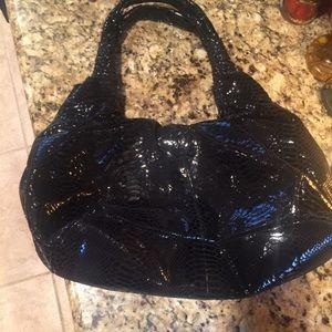 Perlina Handbags - Perlina Studio Black Genuine Leather Hobo Bag