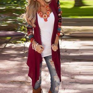 Boutique Jackets & Blazers - Aztec Cardigan