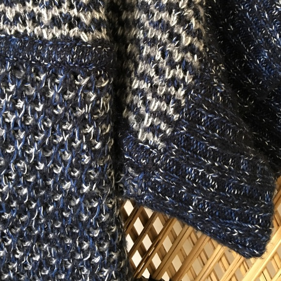 Theonne Sweaters - Theonne Navy Blue Aya Sweater