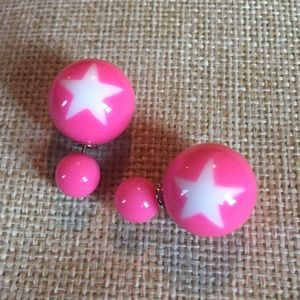 Jewelry - 🦄5 for $35🦄 Pink Star Double Sided Earrings