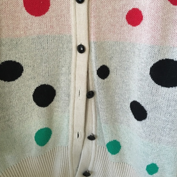Forever 21 Sweaters - Forever 21 Rainbow Polkadot Cardigan