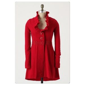 Anthropologie Alice In Autumn Sweatercoat