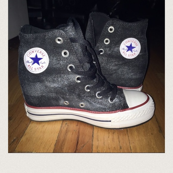 Converse high heel sneakers
