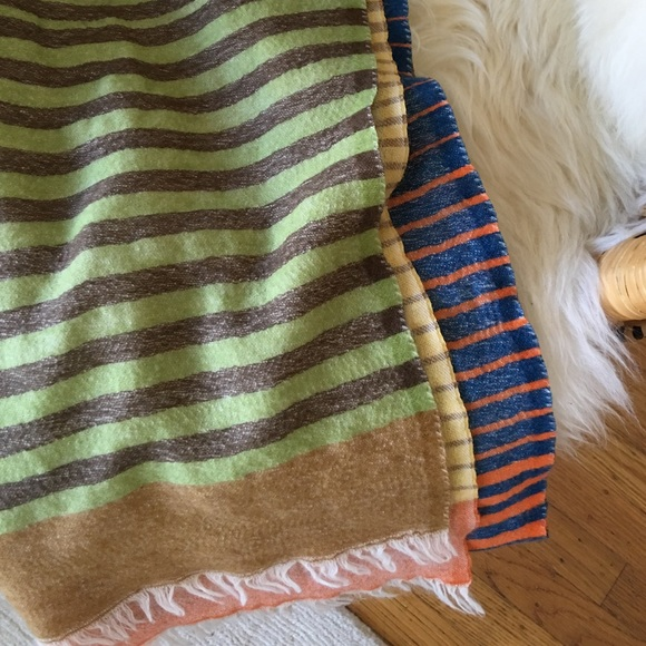 Accessories - Multi-colored Striped Scarf