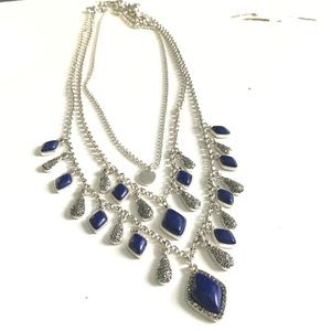 Layered Blue statement Necklace