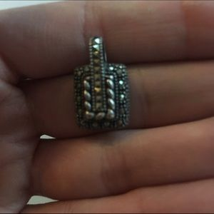 Jewelry - Judith Jack  Marcasite charm Sterling silver