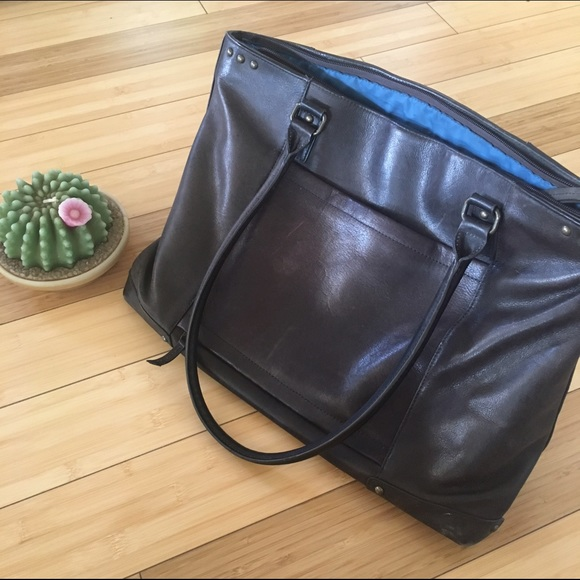 Good piece solo vintage leather messenger bag