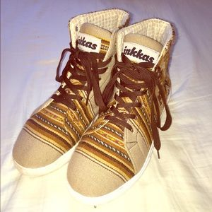 Inkkas Brown Aztec Print Sneakers