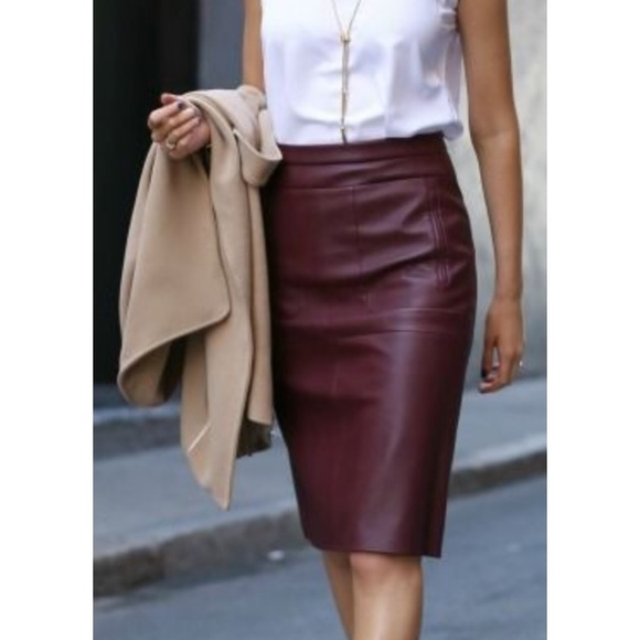 fashionable patterns discount shop check out H&M faux leather pencil skirt NWT