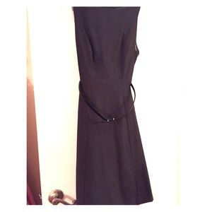 H&M Grey Fit and Flare Dress with Belt