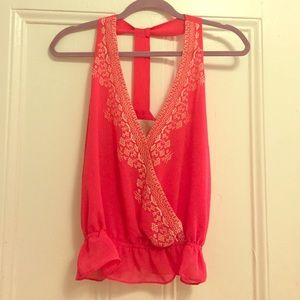 Rory Beca pink tank top