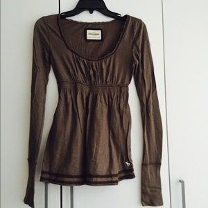abercrombie kids Other - Abercrombie kids brown babydoll top