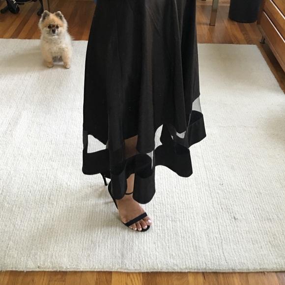 Lulu's Skirts - Lulu's Sheer and Now Black Midi Skirt