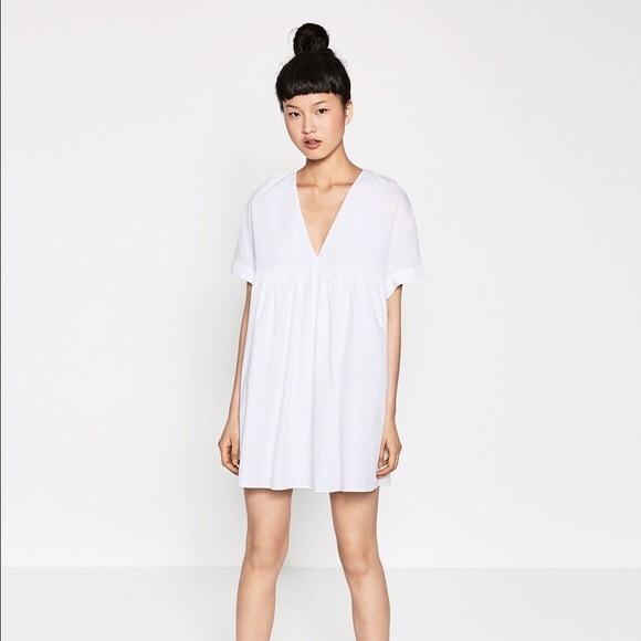 77c322276b9 Zara poplin jumpsuit babydoll dress