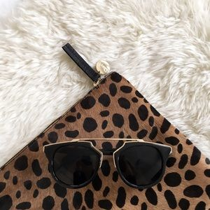 Boutique Accessories - Black and Gold Bar Sunglasses