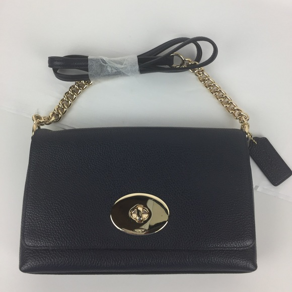 7e88626bdb ... norway coach crosstown crossbody in navy pebble leather 7b3c2 a692e