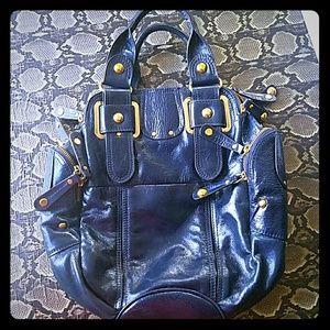Hype satchel in navy blue