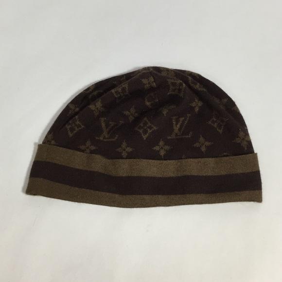 Louis Vuitton Accessories - Louis Vuitton Monogram Beanie Hat Authentic NWOT 8327cfba067