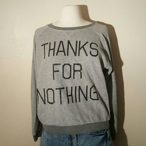 Forever 21 Sweaters - Thanks for Nothing Forever 21 Sweater