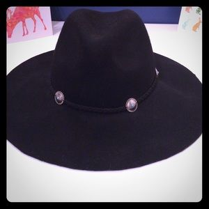 AEO Black Felt Floppy Hat