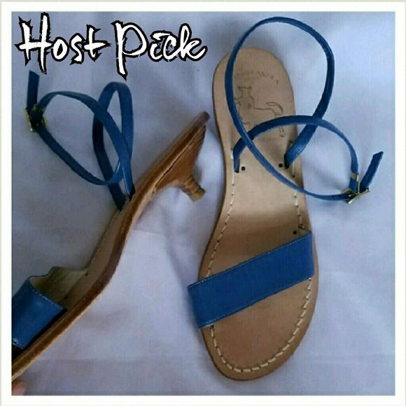 c707cc4e66c442 Handmade Kitten Heel Minotaura Group Sandals. M 581561df2fd0b70b3e02deb2