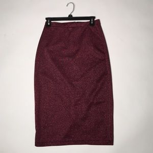 I ❤️ Ronson burgundy pencil skirt