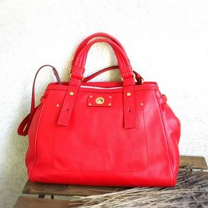 Marc By Marc Jacobs Leather Satchel (Elegant Red)