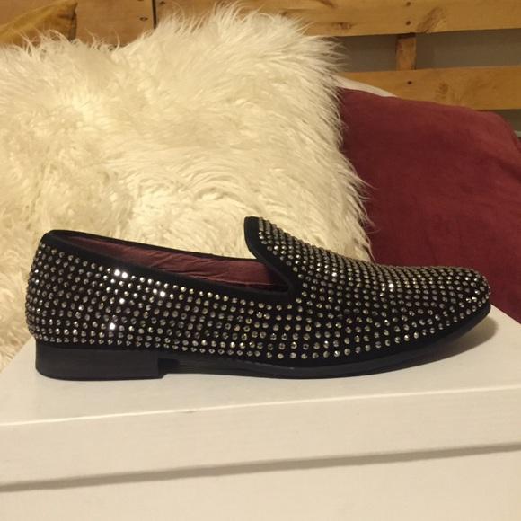 42b6a4924c0 Mens Steve Madden rhinestone loafers