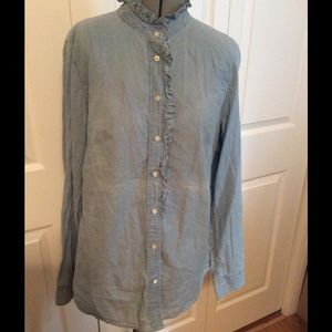 Gap Boyfriend Chambray Shirt