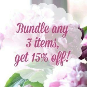 Bundle 3 Items Get 15% Off!