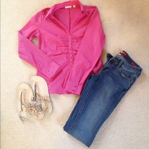 New York & Company Tops - Final price Pink and white button down!