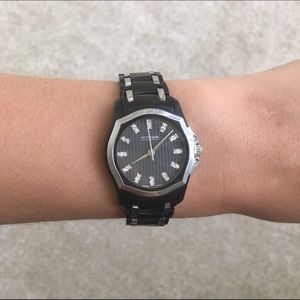 Wittnauer black and silver watch